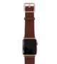 Burnt-Apple-watch-deep-brown-genuine-leather-band-with-rose-gold-case