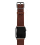 Burnt-Apple-watch-deep-brown-genuine-leather-band-with-space-grey-case