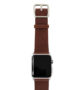 Burnt-Apple-watch-deep-brown-genuine-leather-band-with-stainless-case