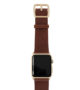 Burnt-Apple-watch-deep-brown-genuine-leather-band-with-yellow-gold-case