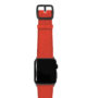 Coral-Apple-watch-nappa-band-with-black-case