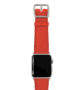 Coral-Apple-watch-nappa-band-with-silver-case