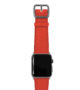 Coral-Apple-watch-nappa-band-with-spacegray-case