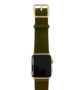 Deep-Leaf-Apple-watch-green–genuine-leather-band-with-gold-series-3-case