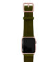 Deep-Leaf-Apple-watch-green–genuine-leather-band-with-rose-gold-case