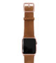 TAwny-Leaf-Apple-watch-green–genuine-leather-band-with-rose-gold-case