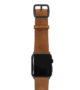 Tawny-Apple-watch-light-brown-genuine-leather-band-with-black-case