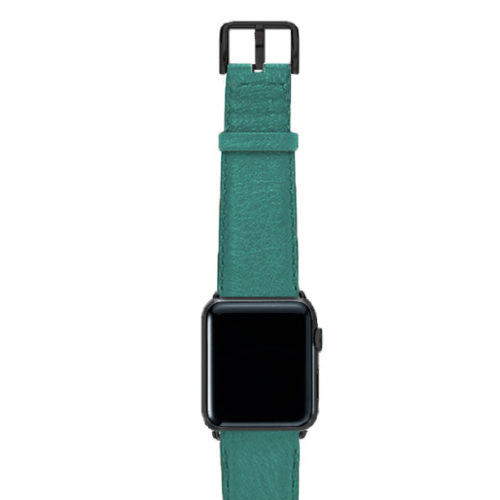 Turquoise-nappa-band-on-top-with-stainless-black-adaptors