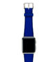 Deep-Ocean-Apple-watch-blue-natural-rubber-strap-with-stainless-case