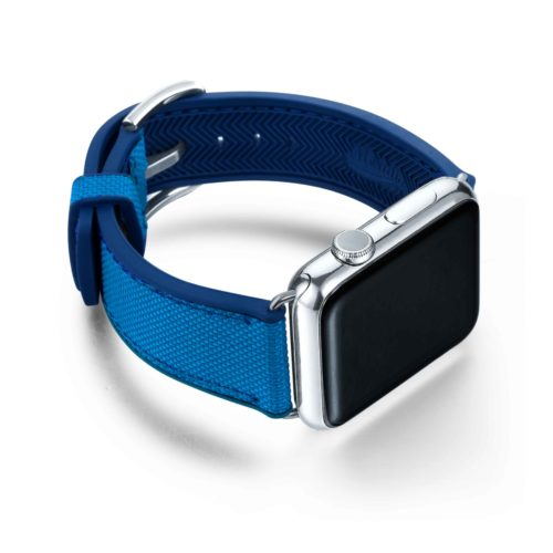 Electric-Blue-Apple-watch-natural-rubber-with-left-case