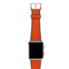 Lobster-Apple-watch-red-natural-rubber-strap-with-rose-gold-case