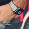 Summer-Cloud-Apple-watch-grey-natural-rubber-band-close-to-shoes-ig