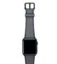 Summer-Cloud-Apple-watch-grey-natural-rubber-strap-with-black-case