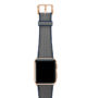 Summer-Cloud-Apple-watch-grey-natural-rubber-strap-with-gold-series-3-case