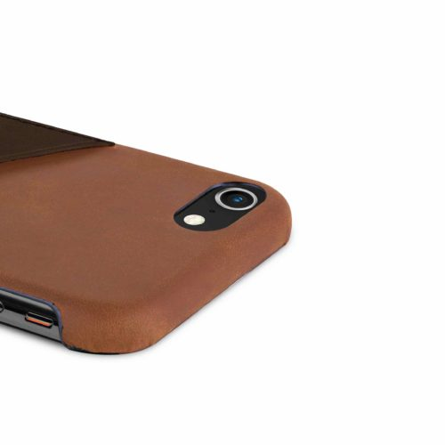 iPhone-8-light-bronw-leather-case-top-side