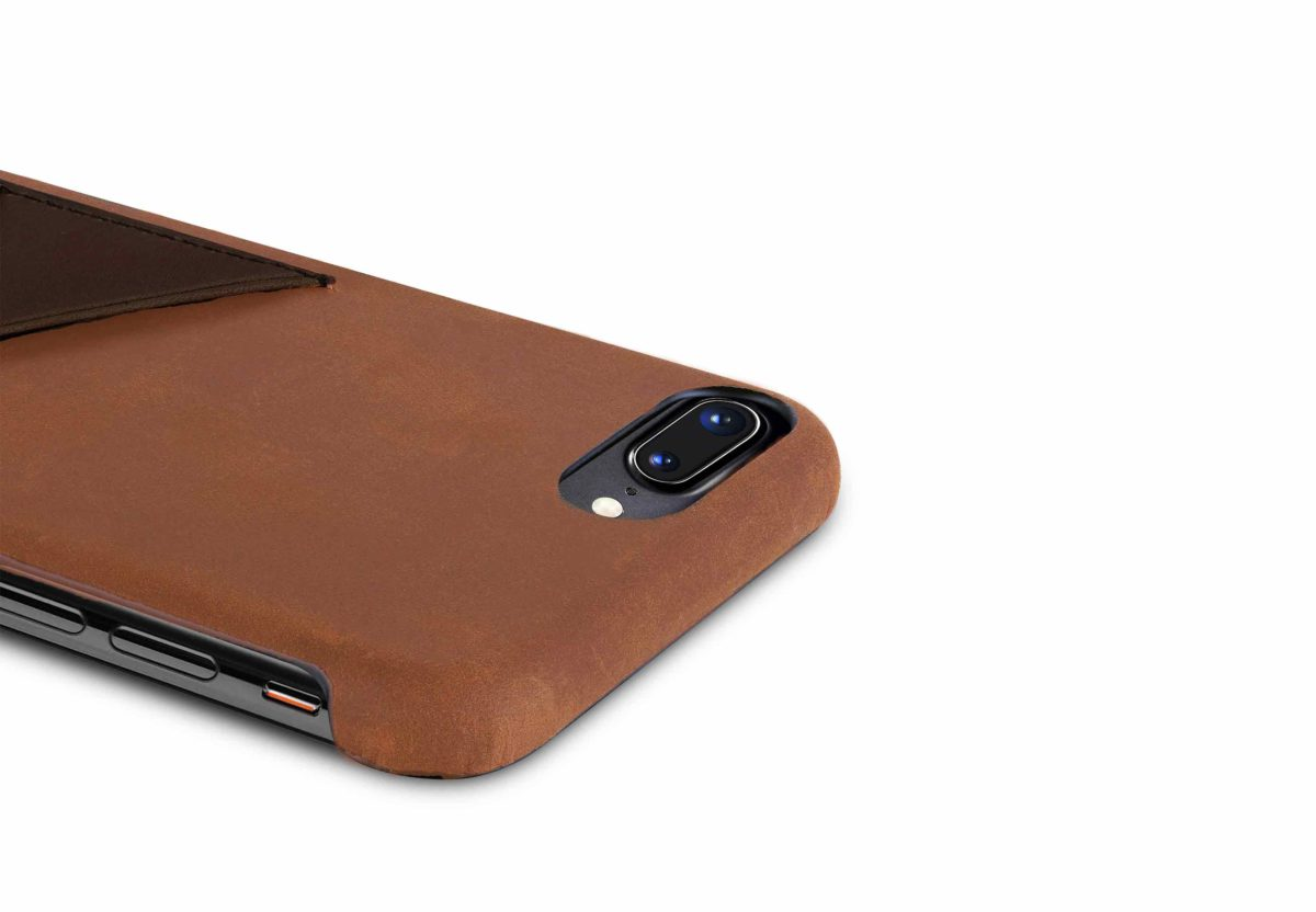 iPhone-8-plus-light-bronw-leather-case-top-side