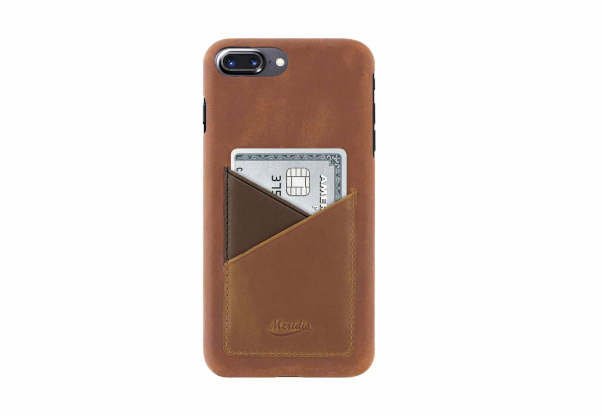 iPhone-8-plus-light-bronw-leather-case-front-side