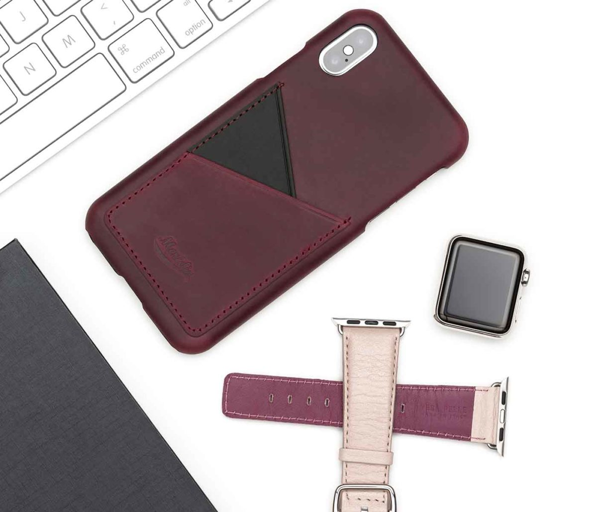 Grapevine-Iphone-leatehr-case-close-to-an-Apple-watch-powder-band-bs