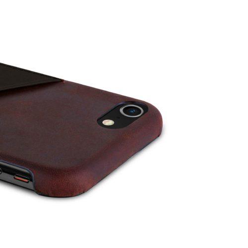 iPhone-8-plus-bordeaux-Leather-case-top-side