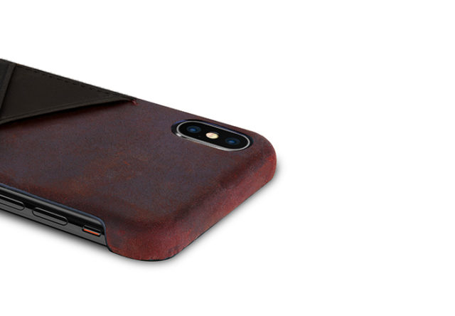 iPhone-X-bordeaux-Leather-case-on-top