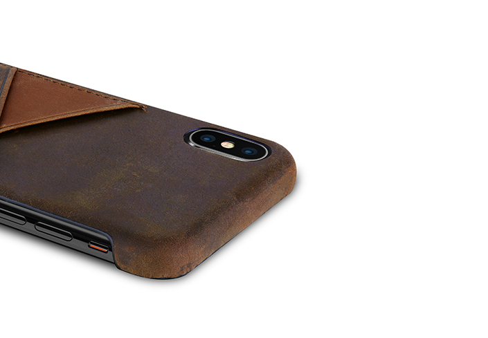 iPhone-X-dark-brown-Leather-case-on-top