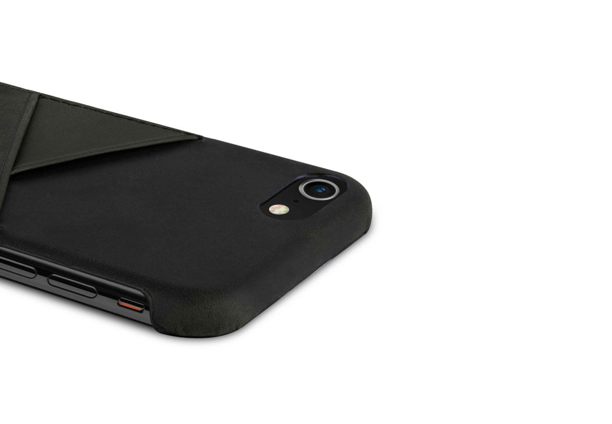 iPhone-8-plus-black-Leather-case-top-side