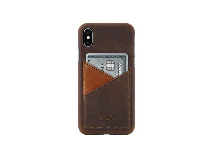 iPhone-X-dark-brown-Leather-case-front-side
