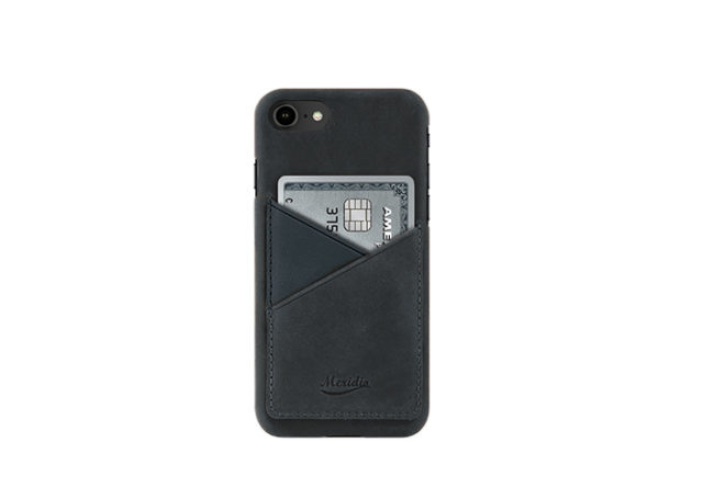 iPhone-7-8-blue-Leather-case-front-side