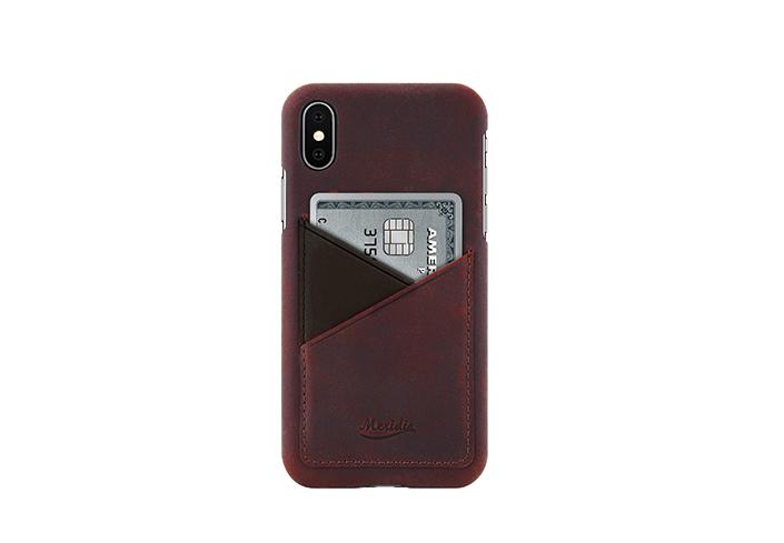 iPhone-X-bordeaux-Leather-case-front-side