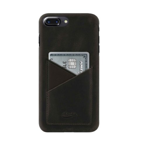 iPhone-8-plus-black-Leather-case-front-side