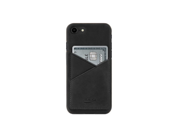 iPhone-8-black-Leather-case-front-side
