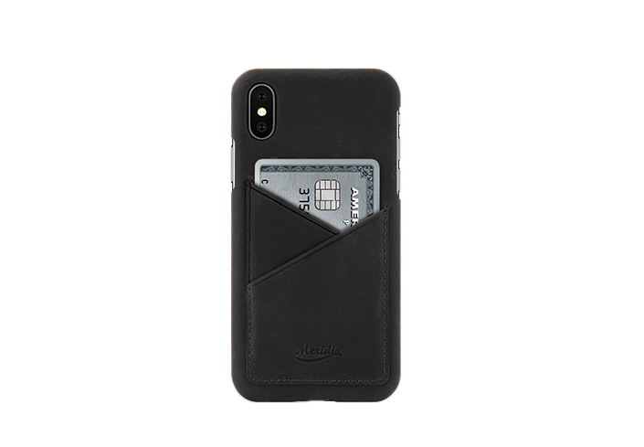 iPhone-X-black-Leather-case-front-side