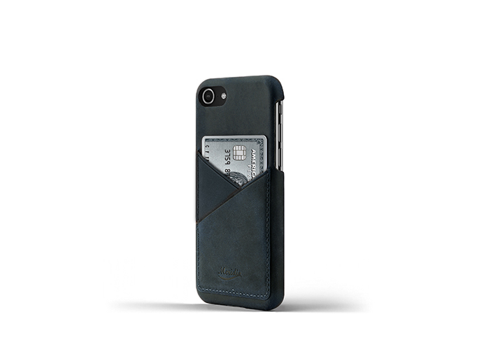 iPhone-7-8-blue-Leather-case-on-side