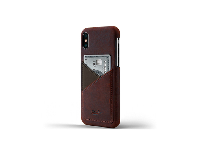 iPhone-X-bordeaux-Leather-case-on-side