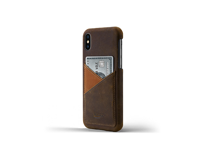 iPhone-X-dark-brown-Leather-case-on-side