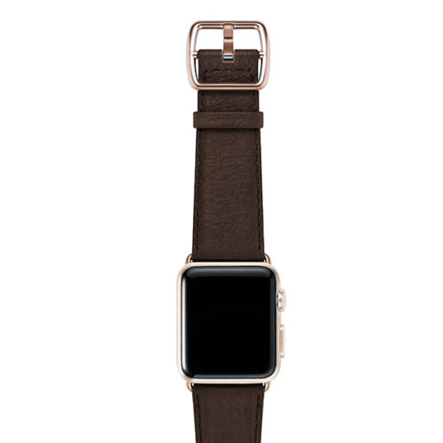 nappa_Slate-Brown-BAND-WITH-stainless-gold-adaptors