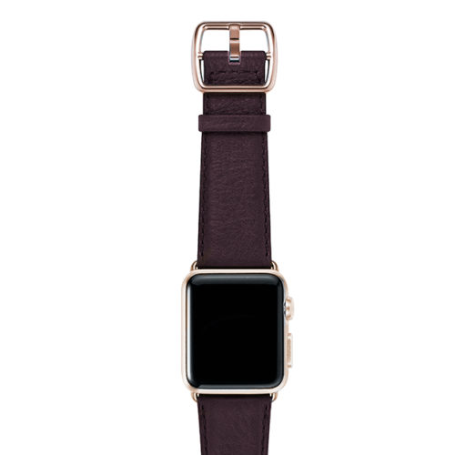 nappa_burgundy-band-with-stainless-gold-adaptors