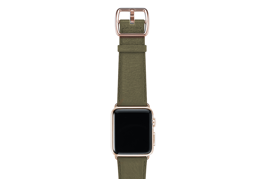 nappa_musk-green-band-with-stainless-gold-adaptors