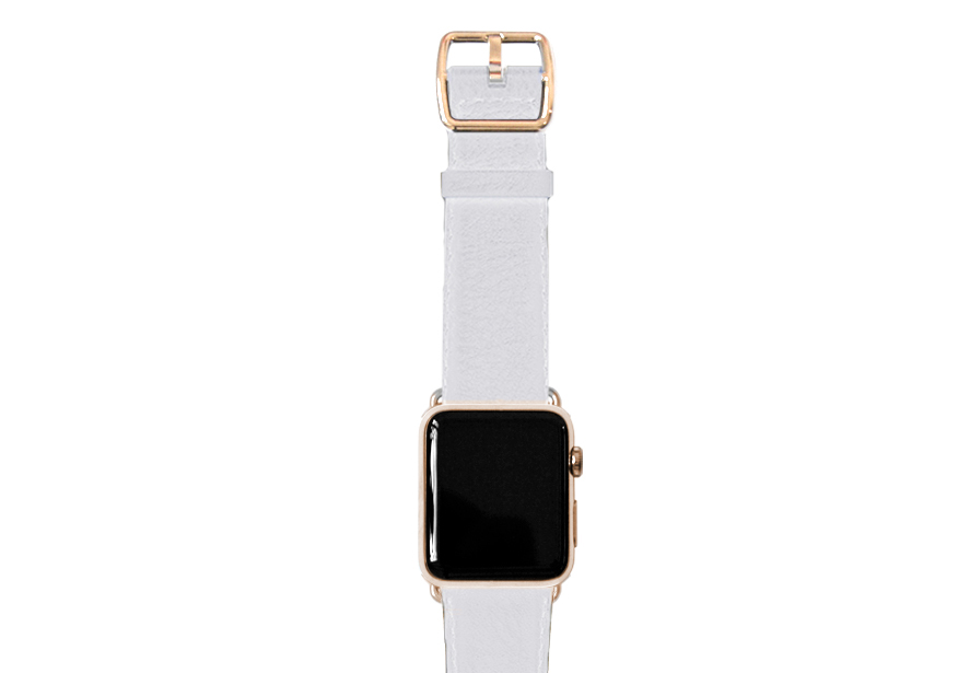 nappa_white-band-with-stainless-gold-adaptors