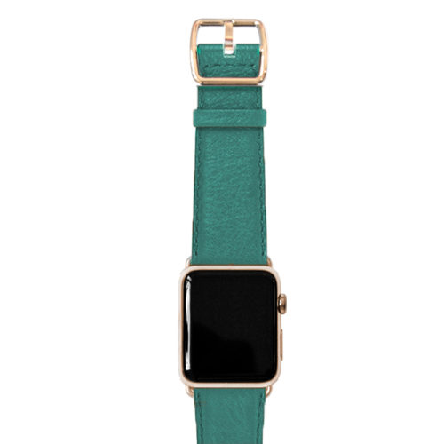 nappa_turquoise-BAND-WITH-stainless-gold-adaptors