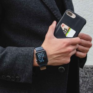 Cosmos+ArcticNight-blue-combo-leather-Apple-accessories-for-him-elegant-and-classic-outfit