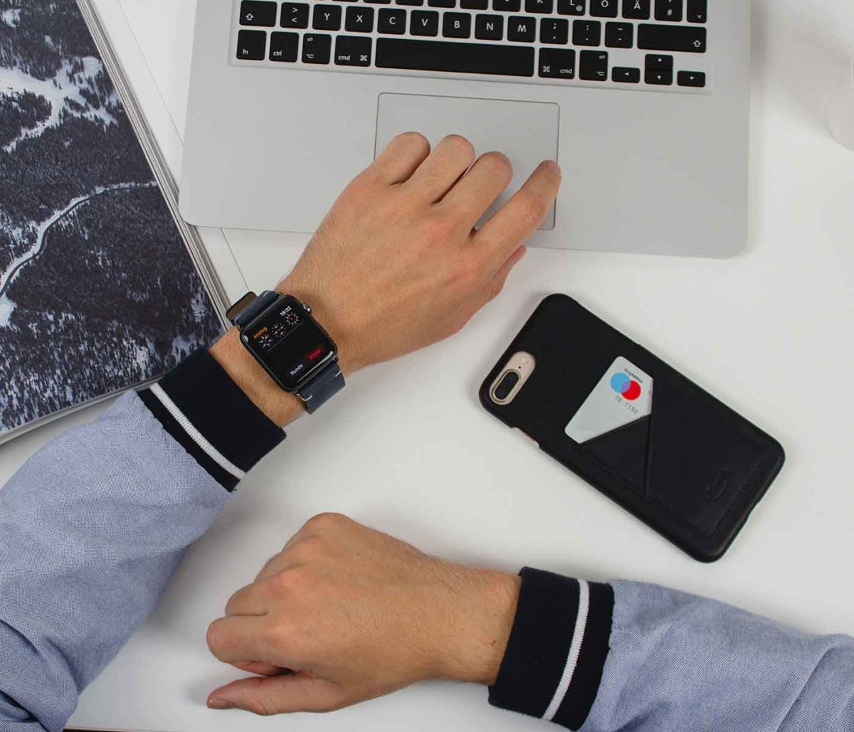 Cosmos+ArcticNight-blue-combo-leather-Apple-accessories-for-him-office-outfit