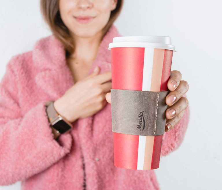 Dried-herb-and-its-cup-sleevers-for-her-with-pink-coat