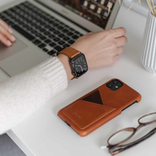Tawny+Barrel-Apple-light-brown-leather-combo-accessorie-on-a-desk-for-her