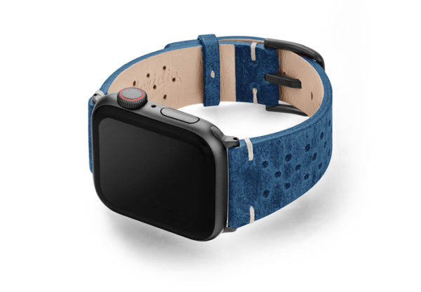 Breathe-AW-blue-AW-calf-leather-band-with-holes-and-case-on-left