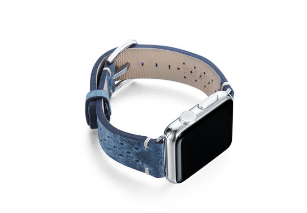 Breathe-AW-blue-AW-calf-leather-band-with-holes-and-case-on-right