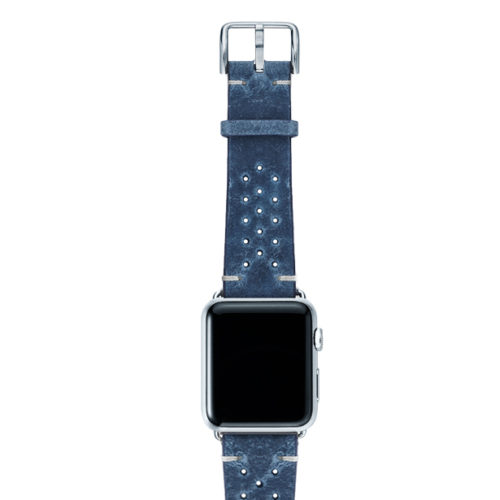 Breathe-AW-blue-AW-calf-leather-band-with-holes-and-case-silver