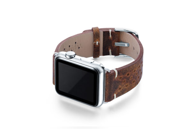 Care-AW-brown-calf-leatehr-band-with-holes-and-case-on-left