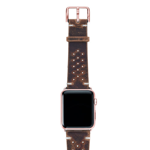 Care-AW-brown-calf-leatehr-band-with-holes-with-case-rose-gold