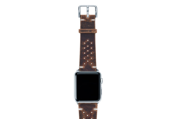 Care-AW-brown-calf-leatehr-band-with-holes-with-case-silver